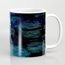 monet water lilies 1899 Blue teal Coffee Mug