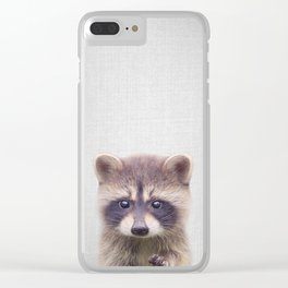 Raccoon - Colorful Clear iPhone Case
