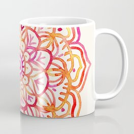 Watercolor Medallion in Sunset Colors Coffee Mug
