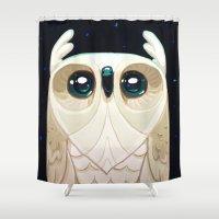 Starla the Owl Shower Curtain