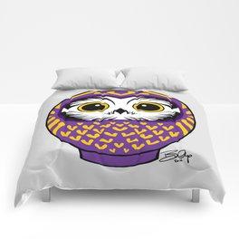 Purple Fukuro Daruma Comforters