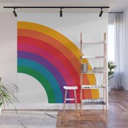Retro Bright Rainbow - Right Side Wall Mural