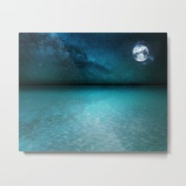 Night Swimming Metal Print