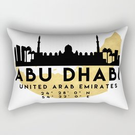 ABU DHABI UNITED ARAB EMIRATES SILHOUETTE SKYLINE MAP ART Rectangular Pillow