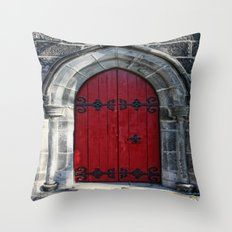 Red the Less Throw Pillow