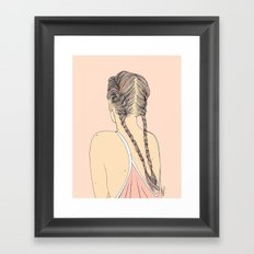 Pretty In Pink Pigtails Framed Art Print