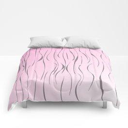 wild design exotic lines Pink Comforters