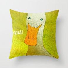 White Duck! Throw Pillow