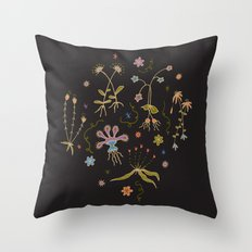 Flora of Planet Hinterland Throw Pillow