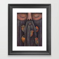 Rip Van Winkle with Birds Framed Art Print