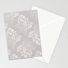 Light gray lace work pattern Stationery Cards
