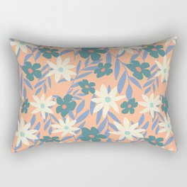 Just Peachy Floral Rectangular Pillow