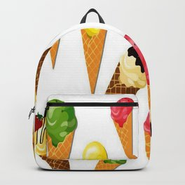 Ice cream-White Backpack