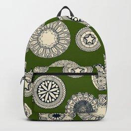 mandala cirque spot green Backpack