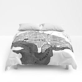 Vintage Map of Washington D.C. (1793) BW Comforters