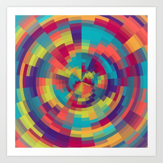 Spiral of colors Art Print