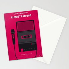 No781 My Almost Famous minimal movie poster Stationery Cards