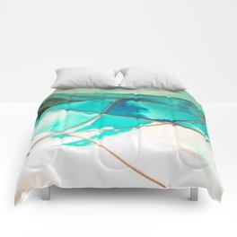 Teal on Silk Comforters