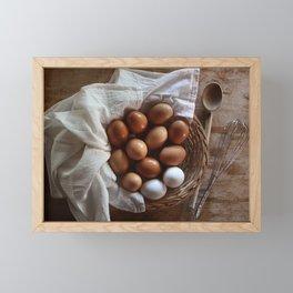 Farmhouse Fresh Eggs Framed Mini Art Print