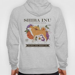Shiba Inu Seed Company wildflower seed artwork by Stephen Fowler Hoody