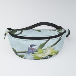 Chickadee in Apple Blossoms Fanny Pack