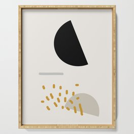 Modern Minimal Abstract Serving Tray