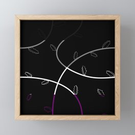 Jagged leaves, asexual pride flag Framed Mini Art Print
