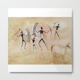 Cave art / Cave painting Metal Print