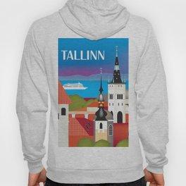Tallinn, Estonia - Skyline Illustration by Loose Petals Hoody