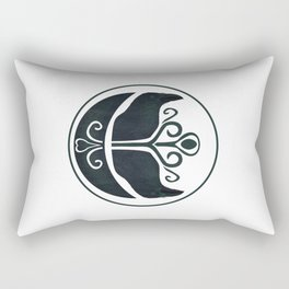 Odin's Ravens (Memory and Thought) Rectangular Pillow