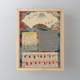 Table of Contents by Ando Hiroshige Framed Mini Art Print
