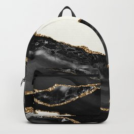 In the Mood Black and Gold Agate Backpack
