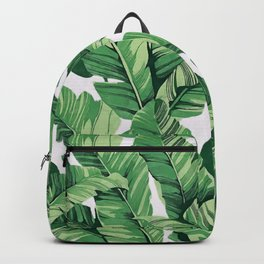 Tropical banana leaves V Backpack