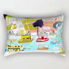 CYCLE CITY canal scene Rectangular Pillow