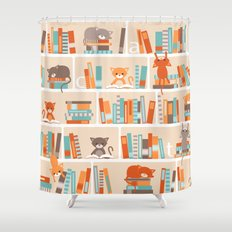 Library cats Shower Curtain