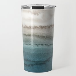 WITHIN THE TIDES - CRASHING WAVES TEAL Travel Mug