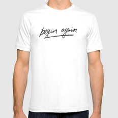 Begin Again SMALL White Mens Fitted Tee