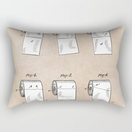 patent - Wheeler - Wrapping or Toilet paper roll - 1891 Rectangular Pillow