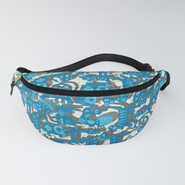 chinese animals blue Fanny Pack