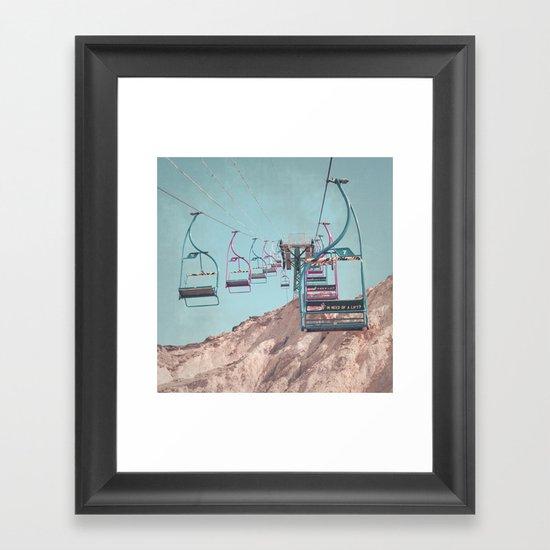 into the sky... Framed Art Print