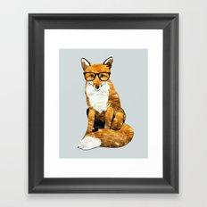 Foxy #society6 #animallover #buyart Framed Art Print