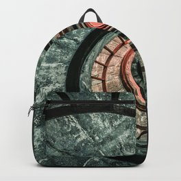 Pretty green spiral staircase Backpack