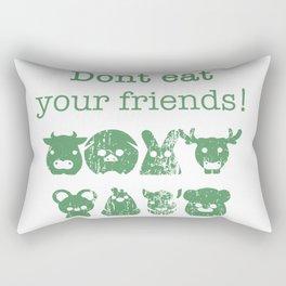Don't Eat Your Friends Rectangular Pillow