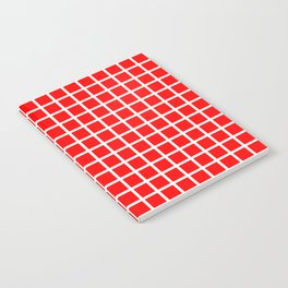 Grid (White & Classic Red Pattern) Notebook