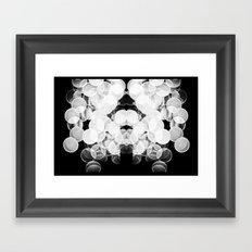 Bokeh Symmetry  Framed Art Print