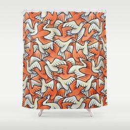Birdwatching Bali Birds Ornithology Tessellation Shower Curtain
