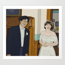 Wedding 1993 Art Print