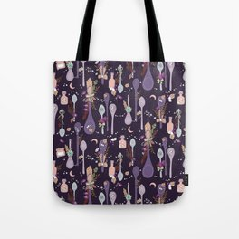 Kitchen Witch Spoons (Purple) Tote Bag