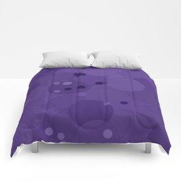 Gentian Violet Bubble Dot Color Accent Comforters