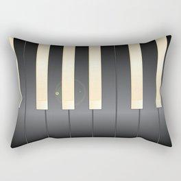 White And Black Piano Keys Rectangular Pillow